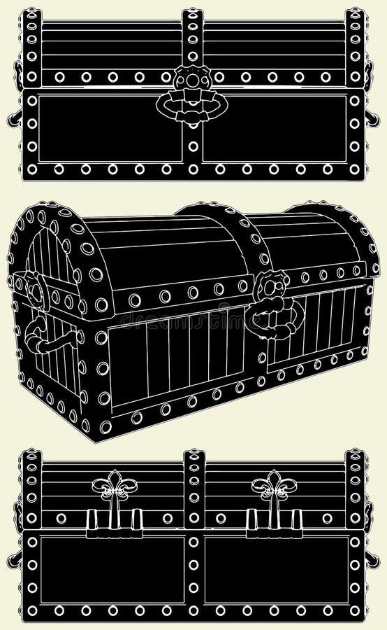 Download Antique Box Of Treasure Vector 01 Stock Vector - Image: 14436293