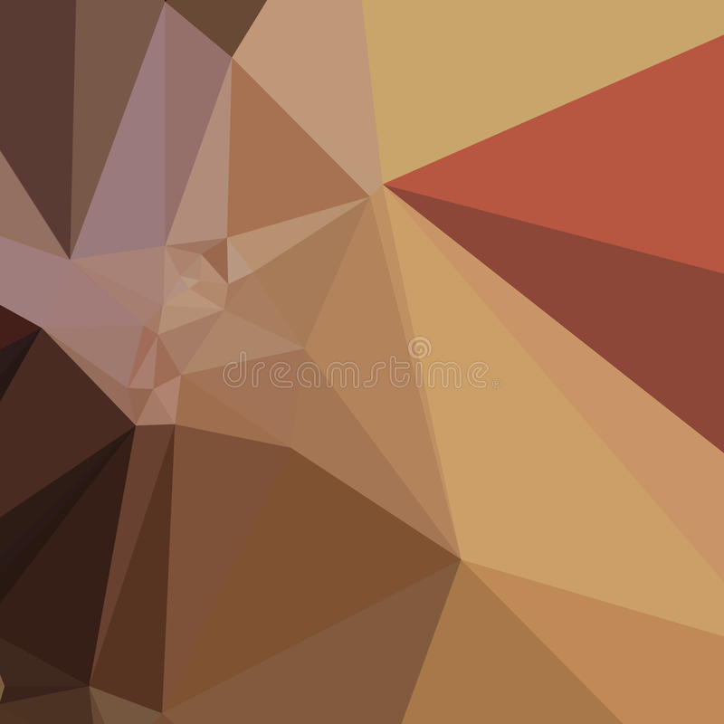 Antique Brass Brown Abstract Low Polygon Background stock illustration