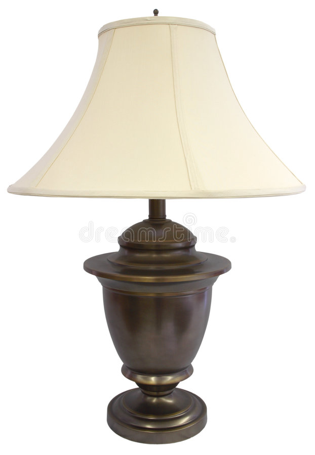 Antique Brass Table Lamp royalty free stock photography