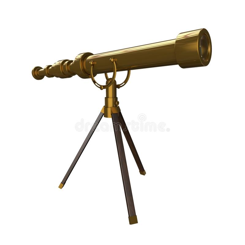 Download Antique Brass Telescope Royalty Free Stock Photos - Image: 25295678