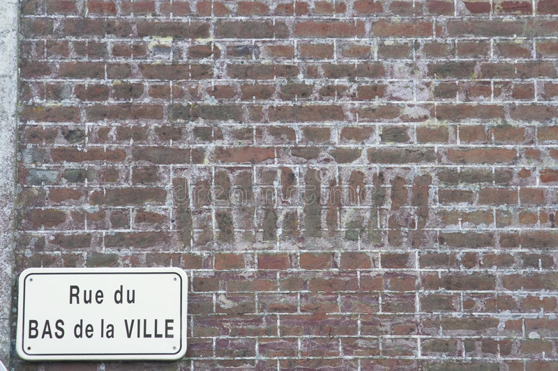 Antique Brick wall France royalty free stock photography