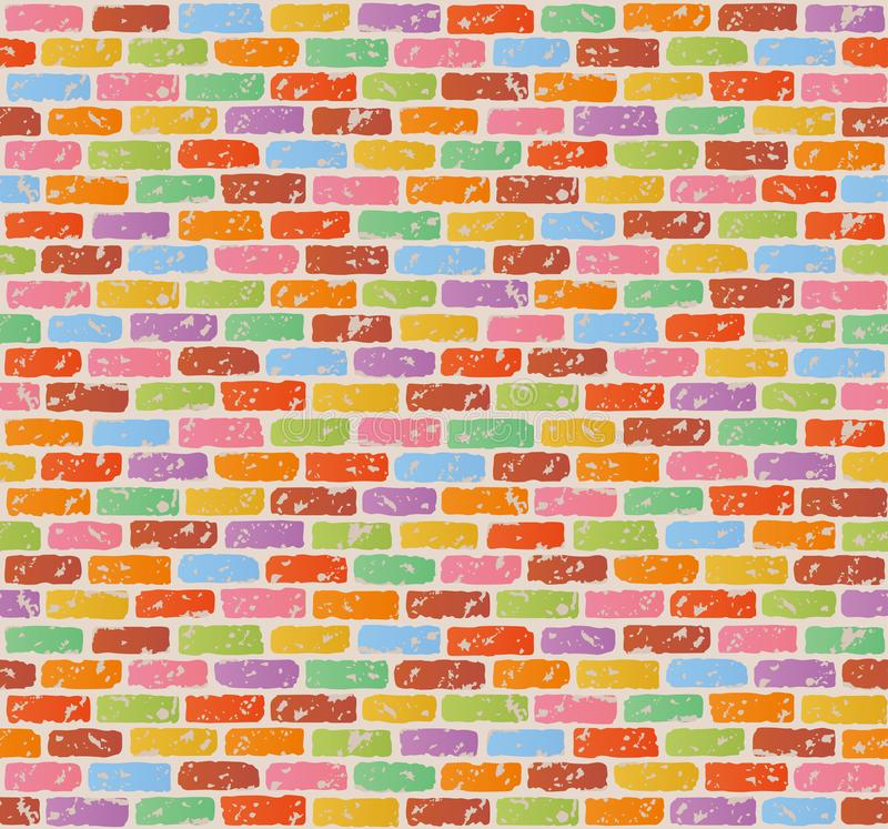 Antique brick wall. seamless pattern. vector illustration