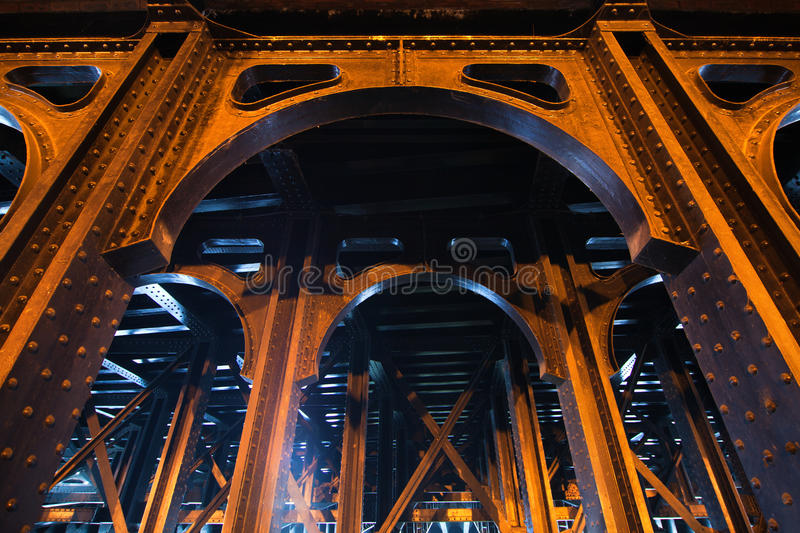 Antique bridge construction. Of the Pont Alexandre III in Paris royalty free stock images