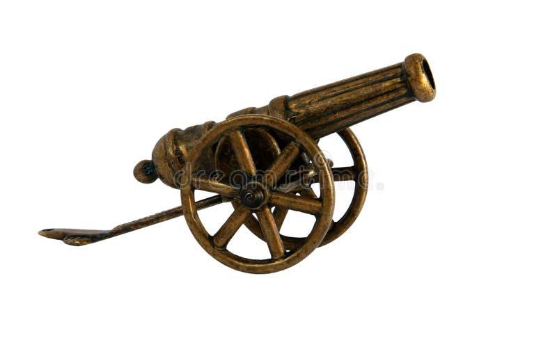 Antique bronze miniature cannon stock photos