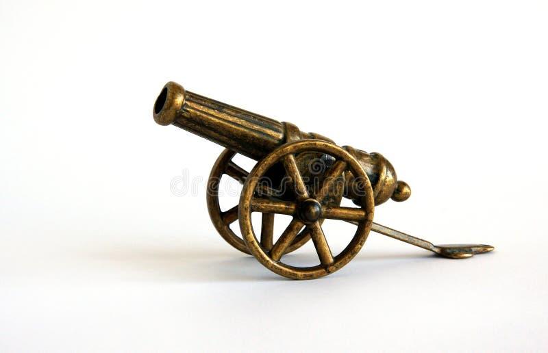 Antique bronze miniature cannon stock image