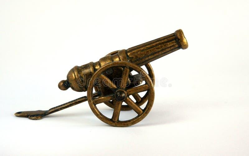 Antique bronze miniature cannon royalty free stock photo