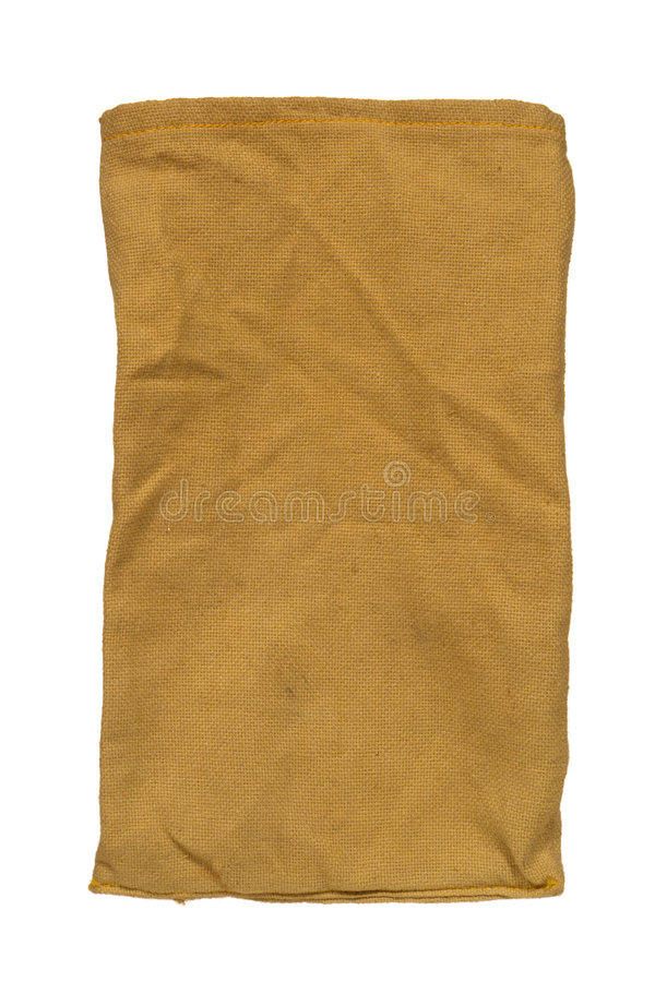 Antique Brown Burlap Fabric Bag Isolated royalty free stock photography