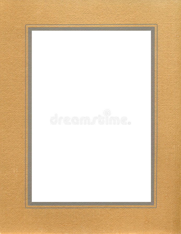 Antique brown textured frame stock image