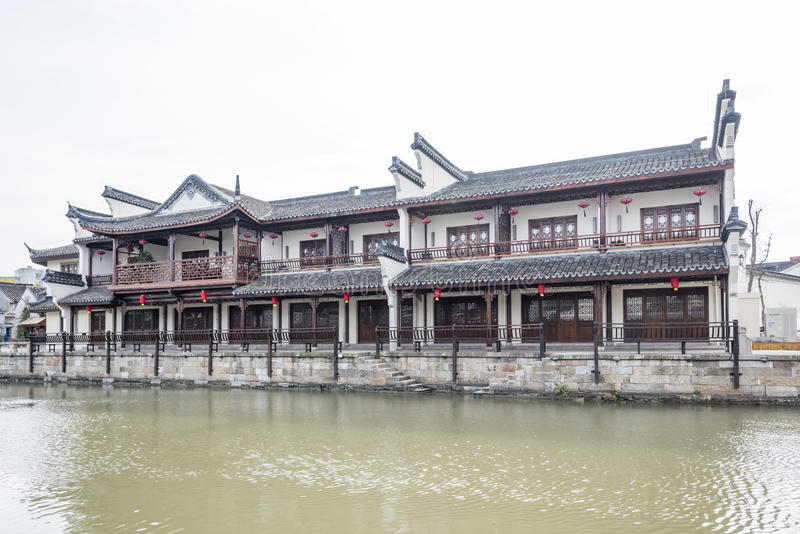 Antique buildings. Along river.This photo was taken in Xitang Town, Jiaxing city,Zhejiang province,china royalty free stock photography