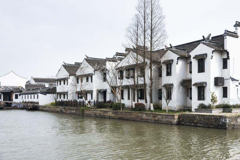 Antique buildings. Along river.This photo was taken in Xitang Town, Jiaxing city,Zhejiang province,china stock photography