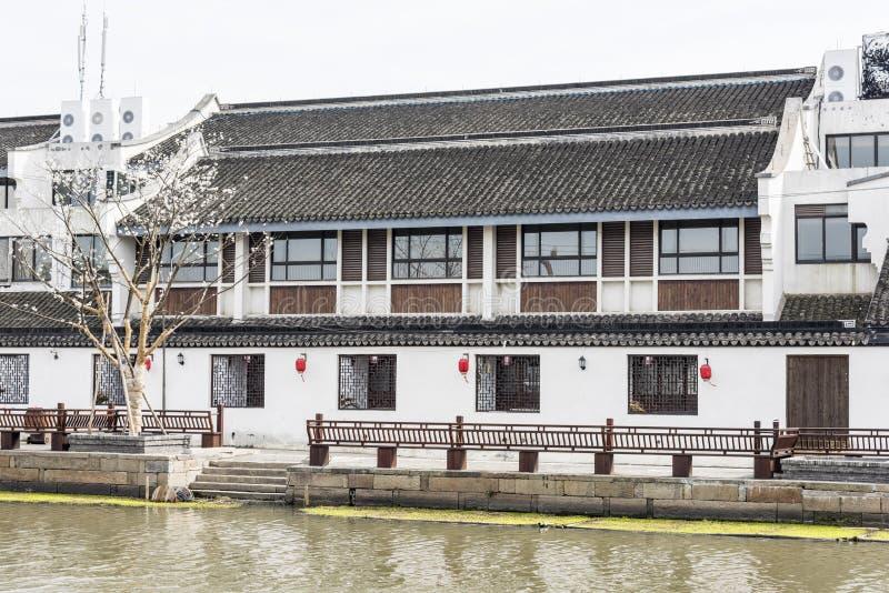 Antique buildings. Along river.This photo was taken in Xitang Town, Jiaxing city,Zhejiang province,china stock images