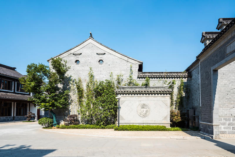 Antique buildings. This photo was taken in laomendong scenic spot, Nanjing city, Jiangsu province, china stock images