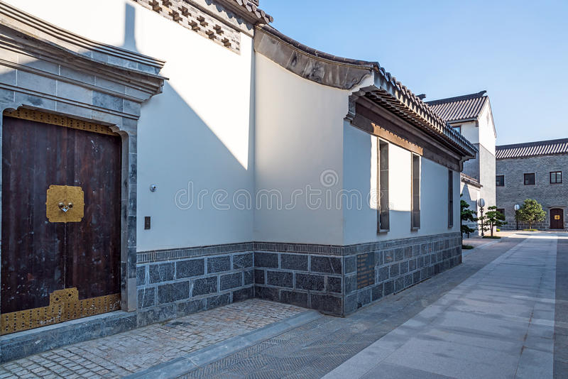 Antique buildings. This photo was taken in laomendong scenic spot, Nanjing city, Jiangsu province, china royalty free stock image