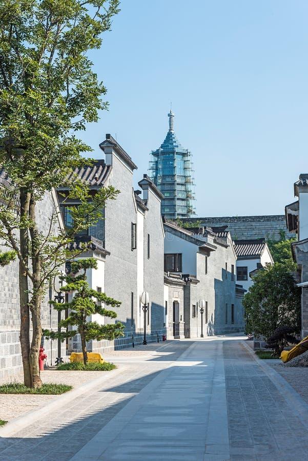 Antique buildings. This photo was taken in laomendong scenic spot, Nanjing city, Jiangsu province, china stock image