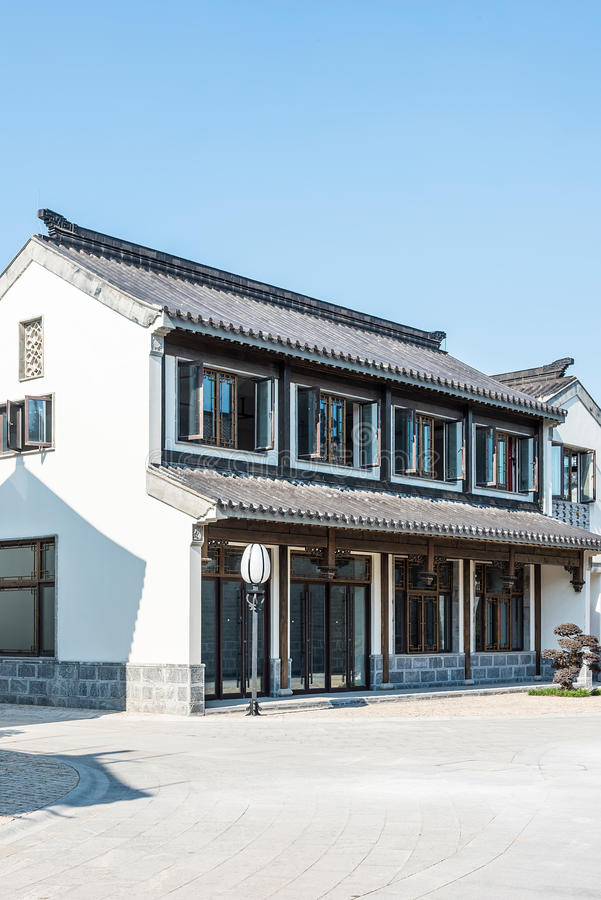 Antique buildings. This photo was taken in laomendong scenic spot, Nanjing city, Jiangsu province, china royalty free stock images