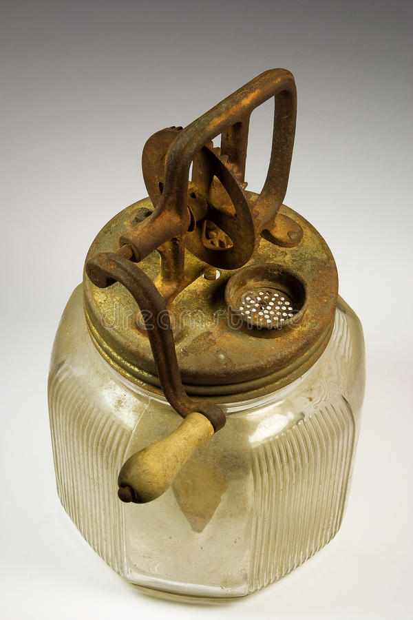 Antique Butter Churn. Close up of Antique Butter Churn royalty free stock photos