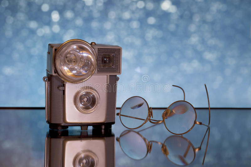 Download Antique camera and glasses stock image. Image of macro - 17474529
