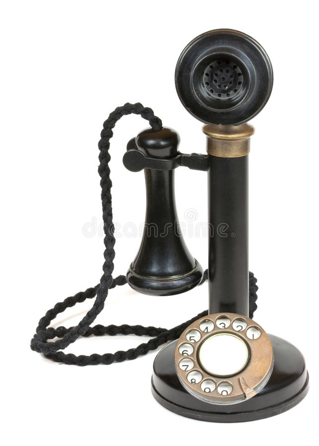 Antique Candlestick Telephone stock images