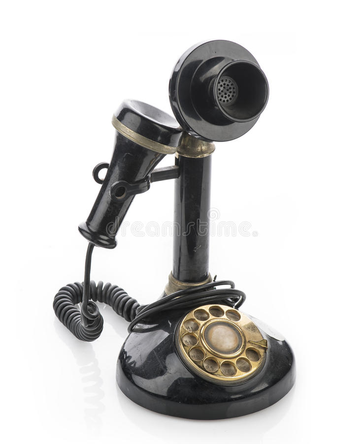 Antique Candlestick Telephone stock image