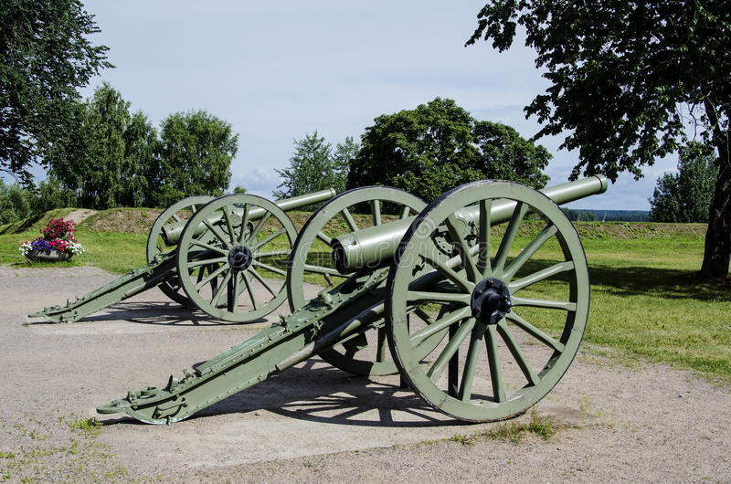 Antique cannons in Lappeenranta. Antique cannons in Lappeenranta , Finland stock photo