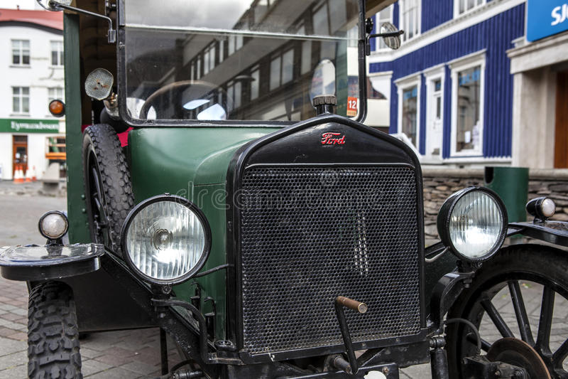 Antique_car royaltyfri foto