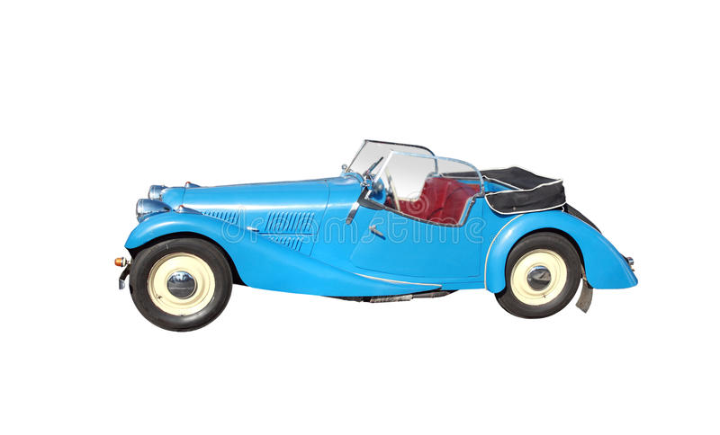 Antique Car with Clipping Path stock photography