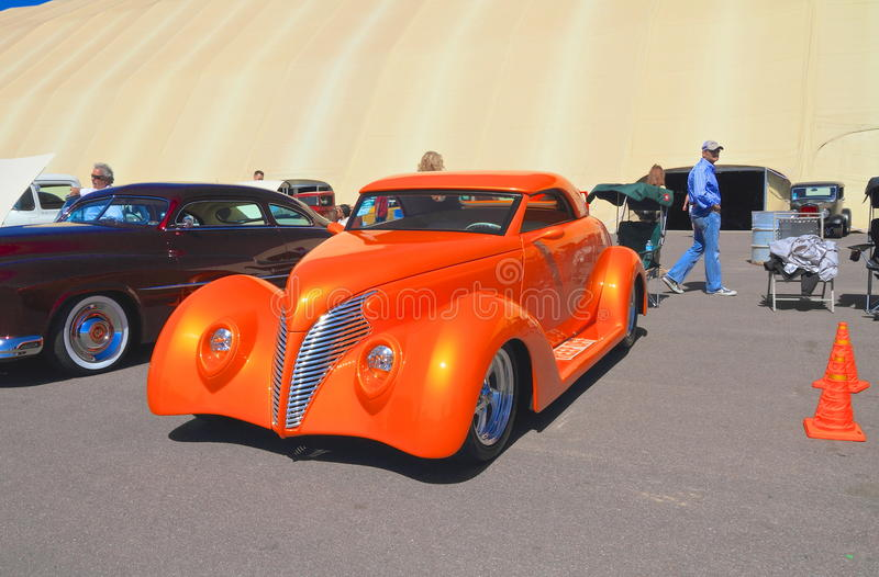 Antique Car: 1939 Ford Custom Cabriolet royalty free stock images