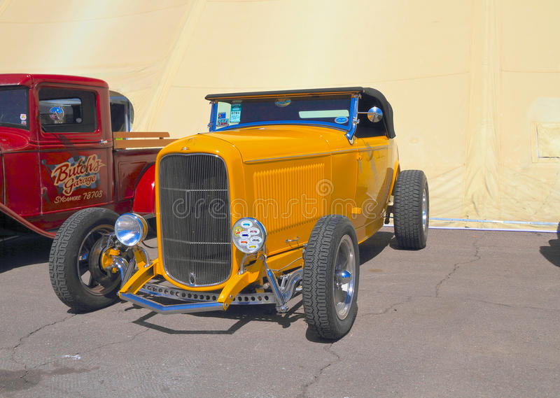 Antique Car: 1932 Ford Roadster. This 1932 Ford Roadster was on exhibition at Goodguys Rod & Custom Association's 5th Spring Nationals on March 7-9 at royalty free stock photo