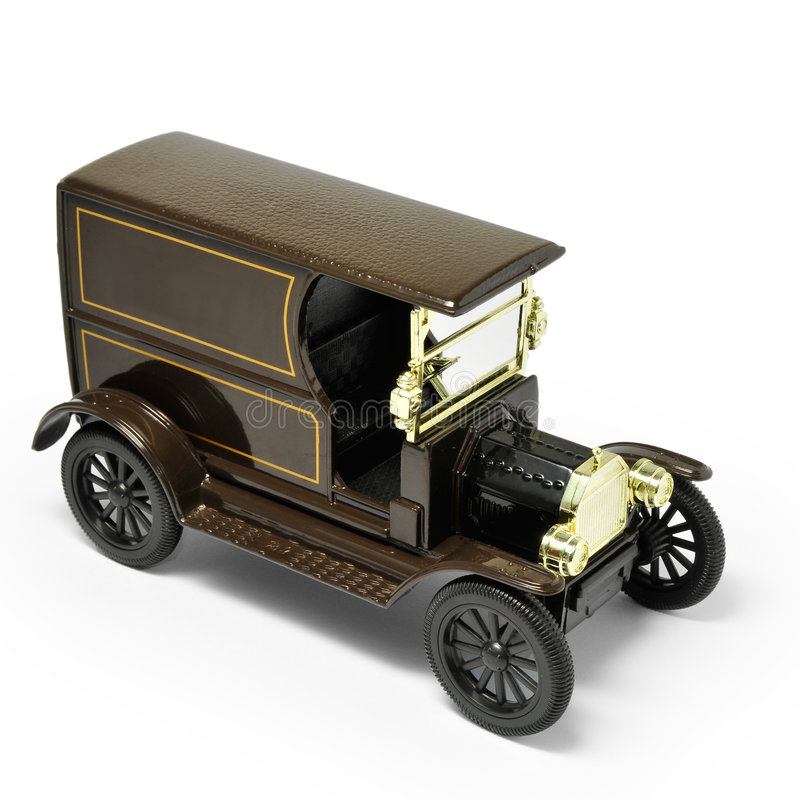 Antique Car model. With white background stock images