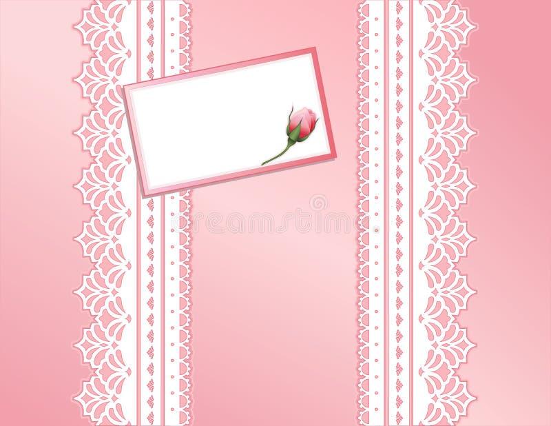 antique card gift lace pink present vektor illustrationer