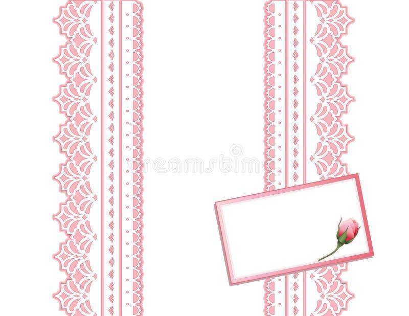 antique card gift lace present vektor illustrationer