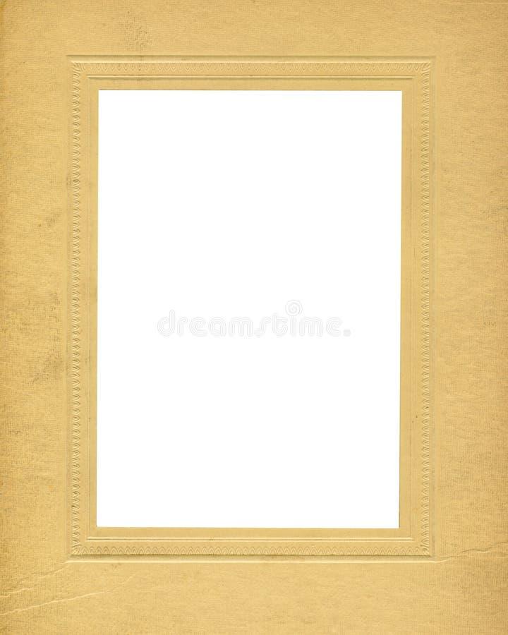 Antique Cardboard Frame stock illustration. Illustration of white ...