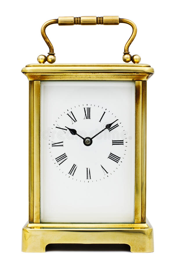 Free Antique Carriage Clock Royalty Free Stock Photos - 24191118