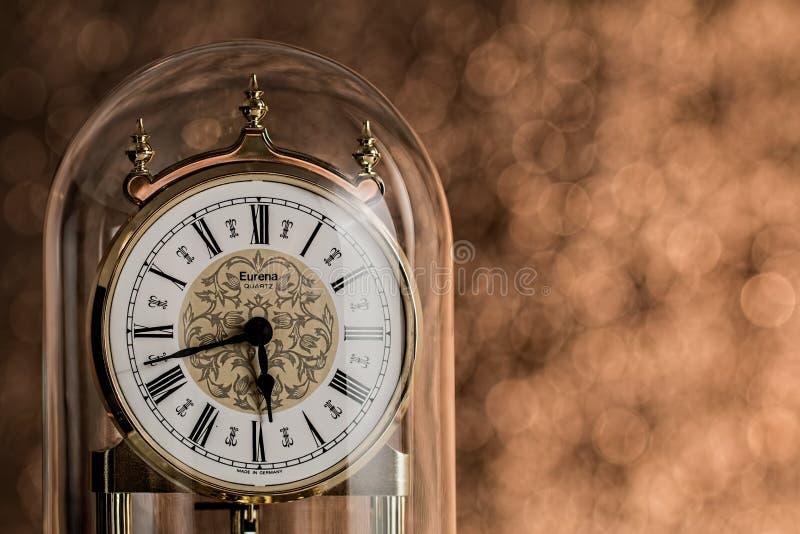 Antique carriage clock royalty free stock photos