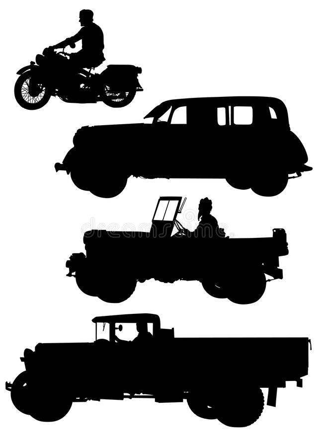 Antique Cars Royalty Free Stock Photo