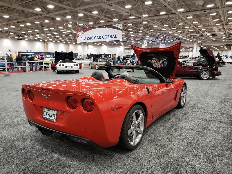 Antique Cars On DFW Auto Show TX USA 2019 Editorial Stock