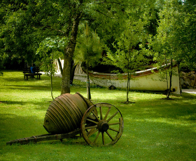 Download Antique cart in garden stock photo. Image of grass, wooden - 13225224