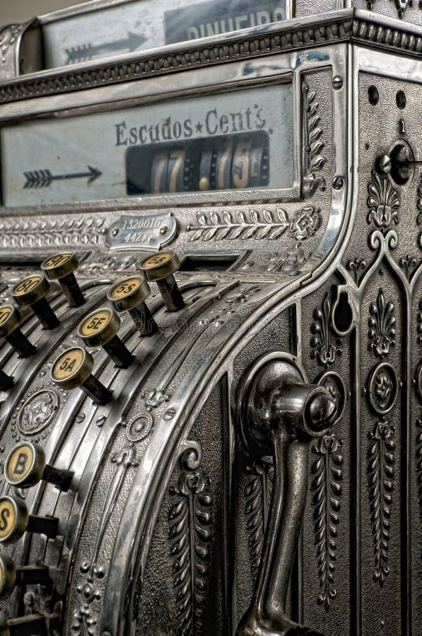 Antique cash register stock photo