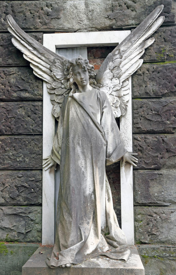 Download Antique Cemetery Angel On Monumental Cemetery Stock Image - Image: 23225313