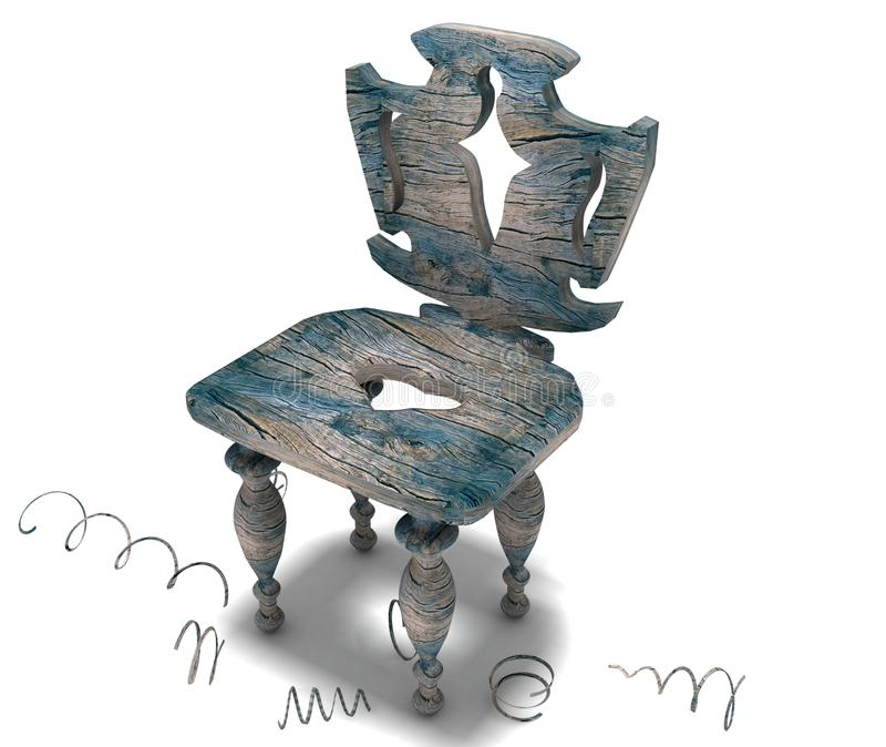 Download Antique chair stock illustration. Illustration of furniture - 20167445