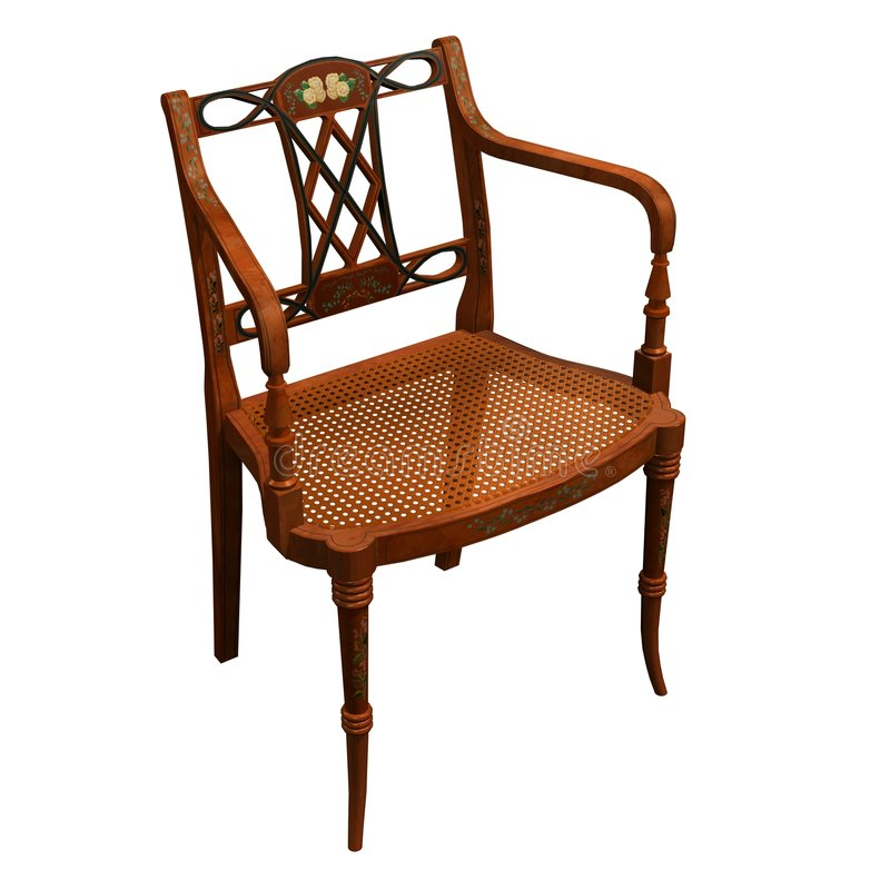 Antique chair stock photo