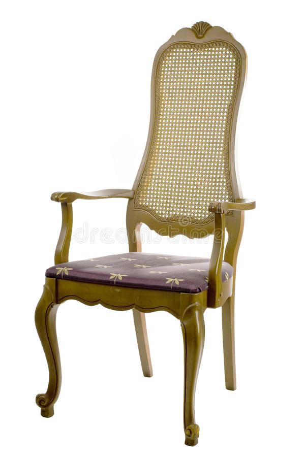 Antique chair isolated on white royalty free stock photography