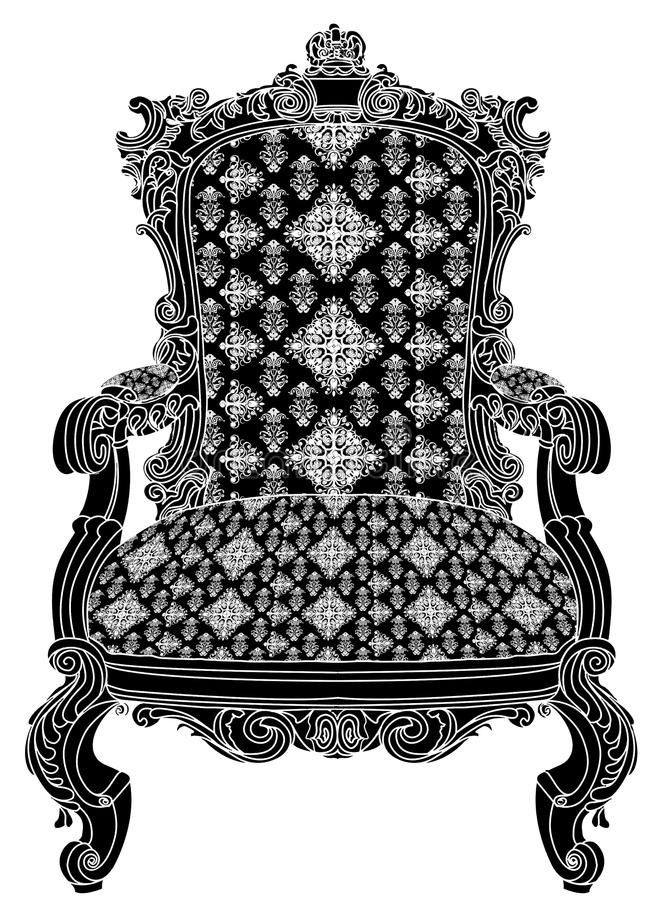 Antique chair structure stock photo