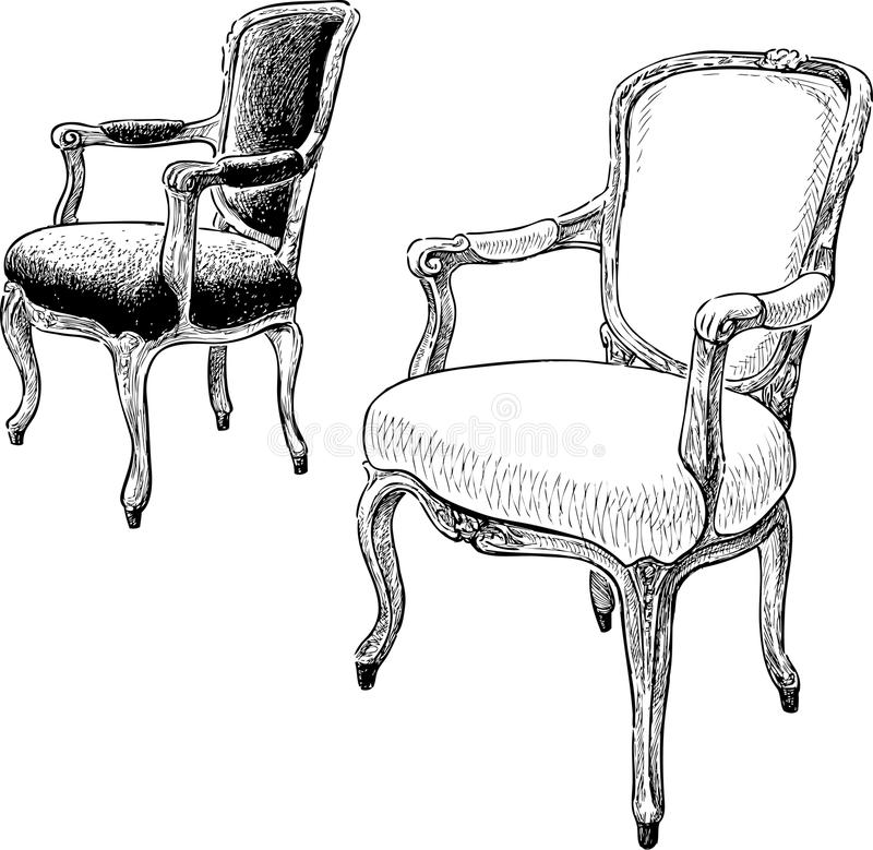 Download Antique Chairs Stock Vector. Illustration Of Ancient   53235200
