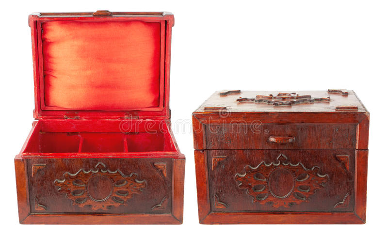 Antique chest stock photo