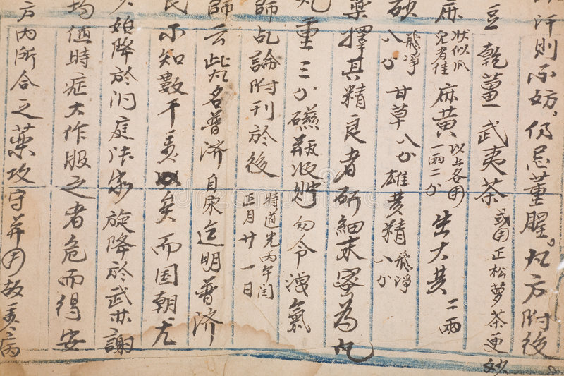 Download Antique chinese book page stock image. Image of aged, symbol - 4526495