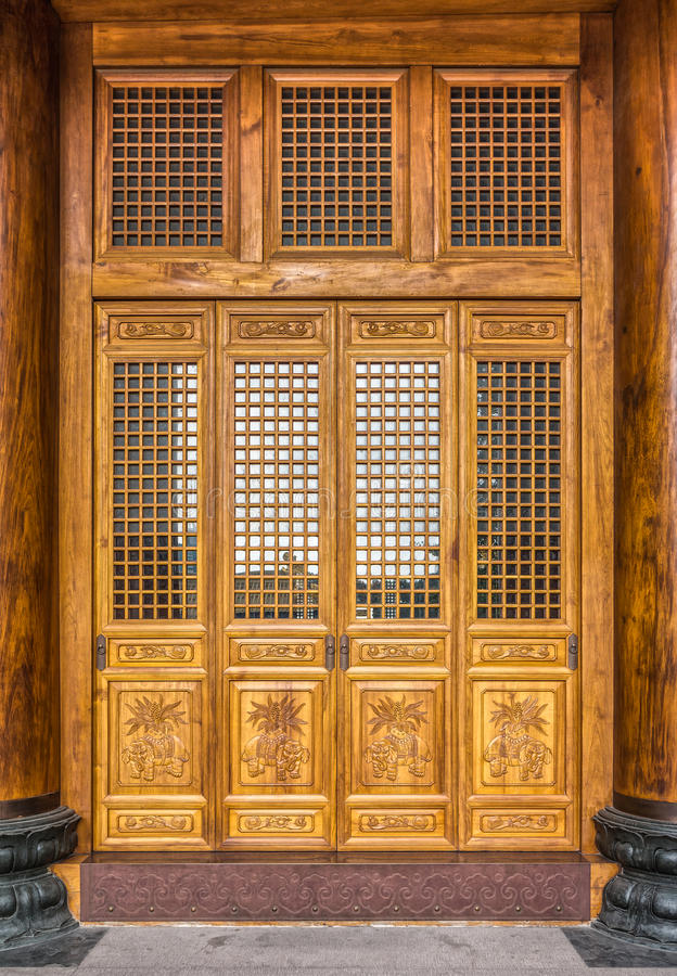 Download The Antique Chinese Wooden Carved Doors Stock Image - Image of  design, ancient: - The Antique Chinese Wooden Carved Doors Stock Image - Image Of