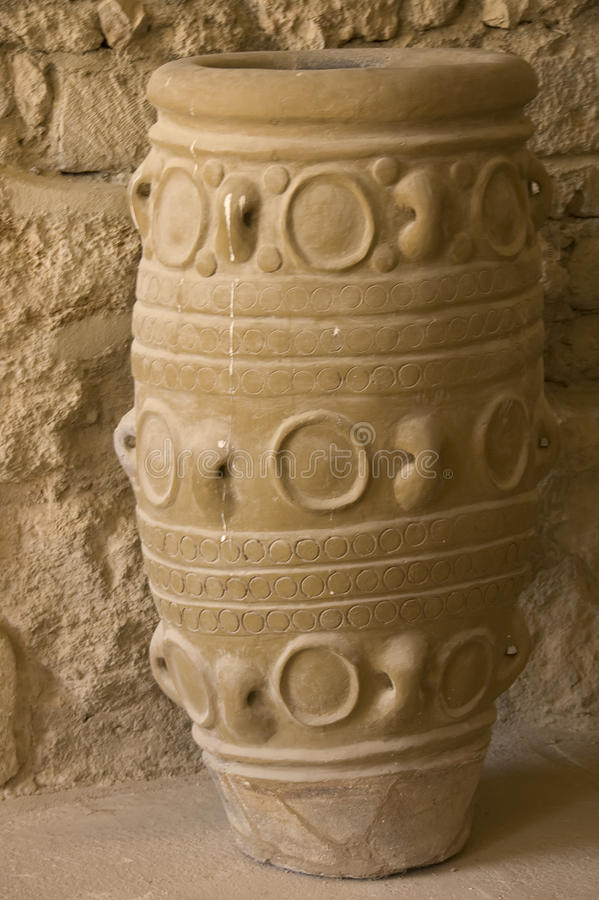 Antique clay jars royalty free stock image