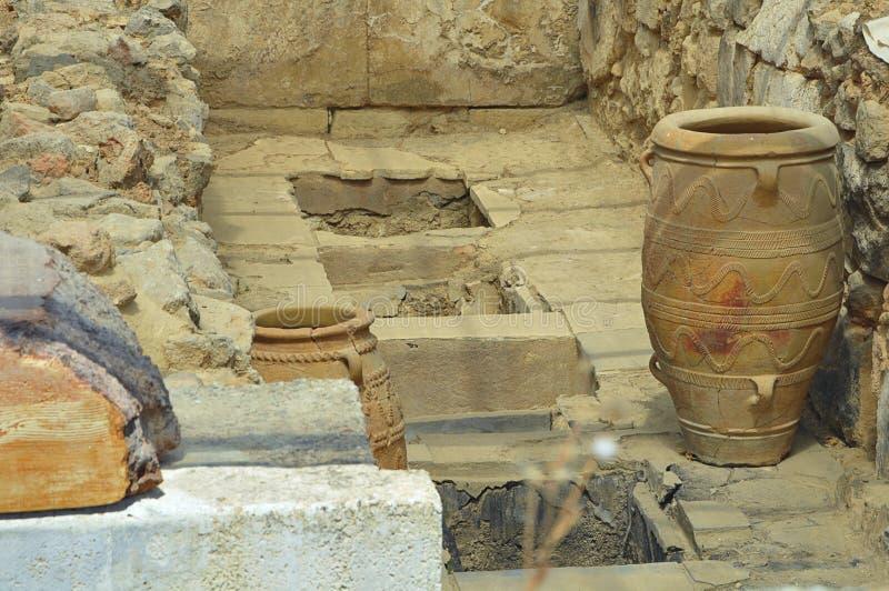 Antique clay jars royalty free stock photos