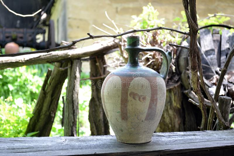 Antique clay pot royalty free stock images
